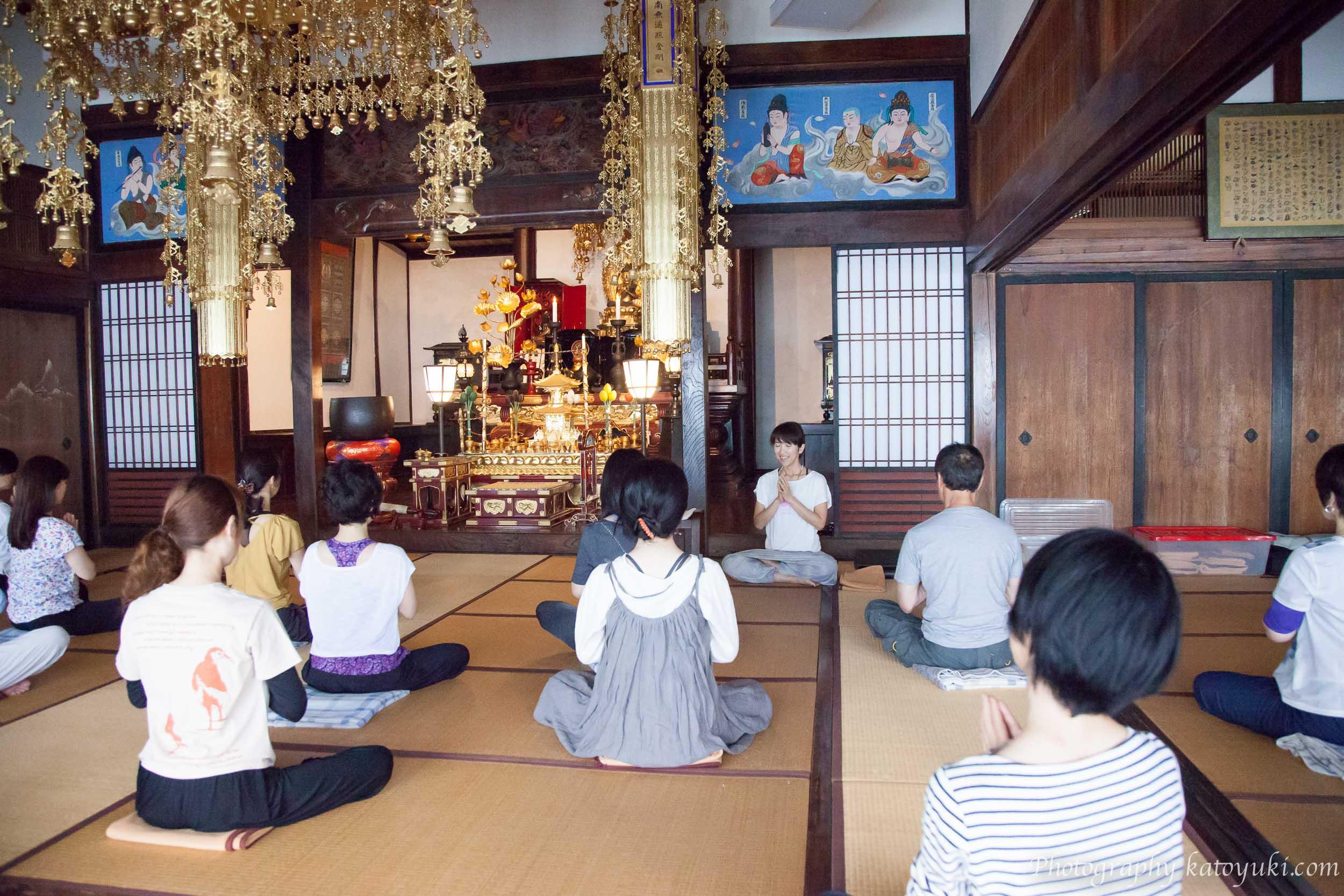 第8回八王子ヨガ祭り2018朝の瞑想